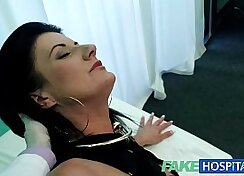 Busty mature milf horny laying on a hard dick