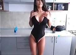 Asian Big Tits Russian Girl Shows Her Tits and Ass On WebCam