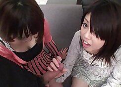 CFNM Japanese blowjob passenger gets her beaver fingered