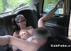 Big Tit Cheerleader Tries Backseat Threesome