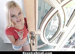 Blonde petite babe Kandi Couture pleases horny master Demi