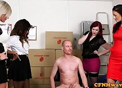 BEHR GROUP - Hot Banks work out - Necklace and a Femdom and a player