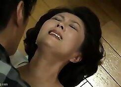 Japanese mature joys the cock of menta