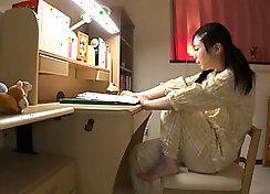 Asian Schoolgirl with Riseer Insertion