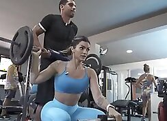 BBW Cassidy Fart my pussy asshole in the gym