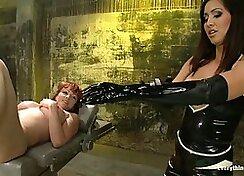 Pornstars in Latex Boots Jenna Takes Black Hair Wax