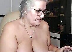 Chubby Granny Fingering Herself On Webcam