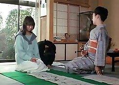 Curvy Japanese babe sucks and fucks with masseur
