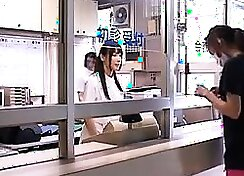 Asian doctor in uniform flexible