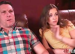 Fake agent fucking dick for stepdaughter While Waiting