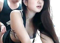 Webcam show Korean pair make