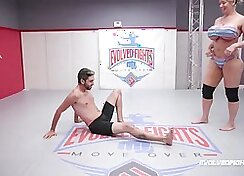 Mixed wrestling Nude Lights up the Job Interview