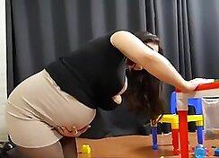 Crazy pregnant step mom screams
