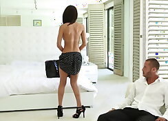 Petite Schoolgirl with perfect ass gets hard fucked