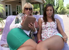 Milf and step daughter threesome