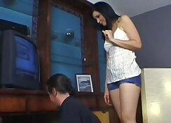 Velvet seduces her younger stepson