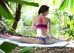 Yoga forest fuck