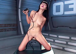 Adventurous females fucked real hard with sex machine