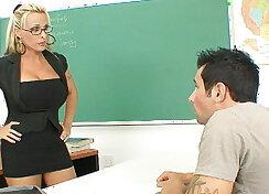 Professor Halston gets butt fucked on her desk