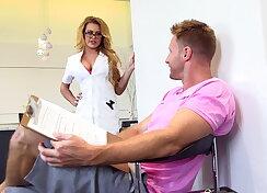 Busty nurse Corinna Blake gets fucked