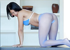 18 year old brunette sweety in pantyhose