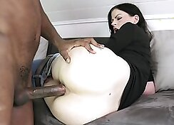 Brunette that loves to suck and flaunt her big juicy boos is receiving anal
