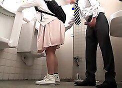 Asian Schoolgirl Takes It In Public