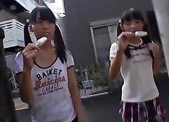 Amatuer Japanese schoolgirl gets fucked super hard on the desk
