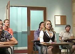 Ambers teacher ramming slick pussy