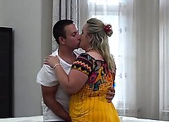 BBW Housewife Licks My Lotion