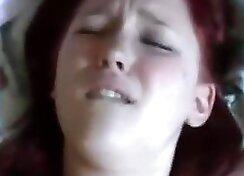 Beautiful busty redhead girlfriend sloppy blowjob