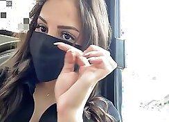 Nasty Babe Teases on Public Bus