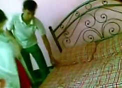 lovely Indian hottie loudly screams while making hardcore sex moves